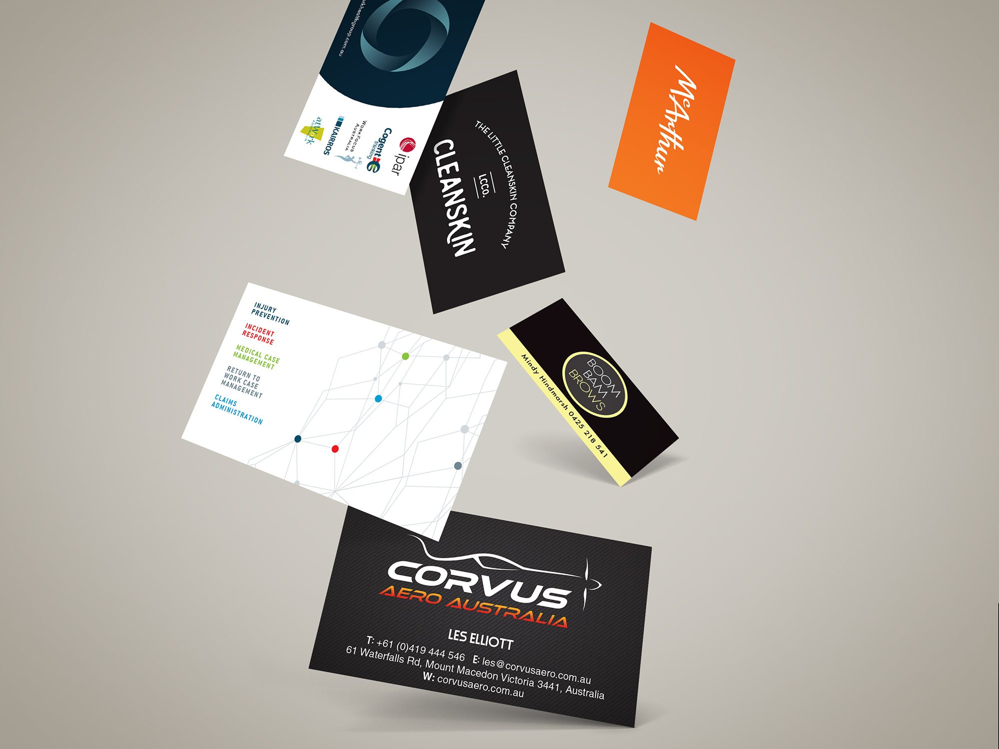 business card printing and graphic design service