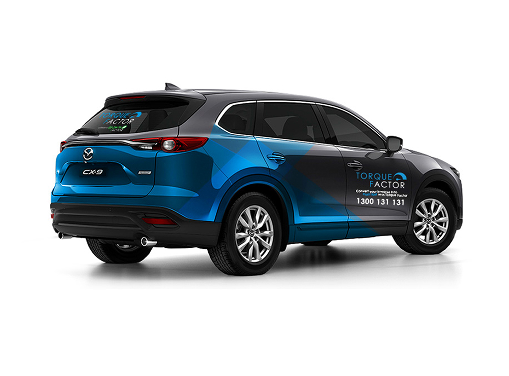 Brand and Graphic Design Agency Melbourne - Torque Factor Launch Car