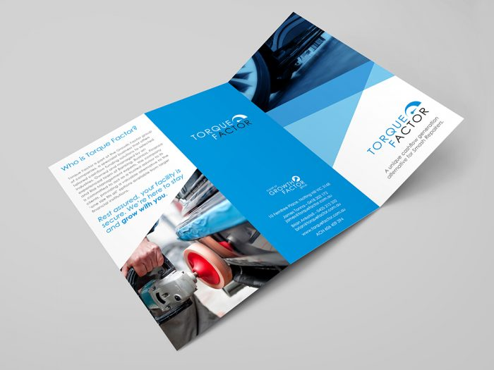 Brand and Graphic Design Agency Melbourne - Torque Factor Launch Brochure