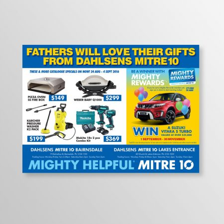 graphic design advertisement mitre10
