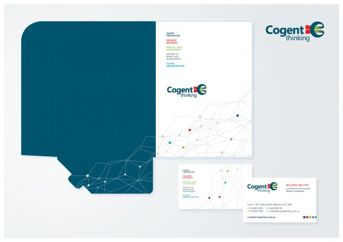 graphic design agency melbourne branding cogent folder