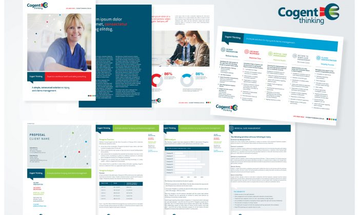graphic design agency melbourne branding cogent brochure