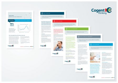 graphic design agency melbourne branding cogent flyer suite