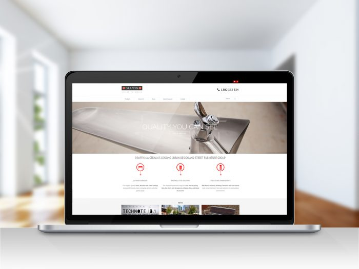 Draffin Wordpress website home page